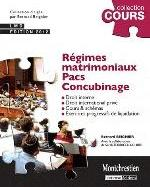 REGIMES MATRIMONIAUX - PACS- CONCUBINAGE 3E